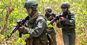 Venezolanische Soldaten im Einsatz in Apure gegen irreguläre bewaffnete Gruppen