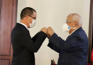Außenminister Arreaza und Vizepremier Cabrisa am Freitag in Caracas