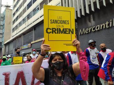 """Protest in Venezuela: """"Die Sanktionen sind ein Verbrechen"""""""