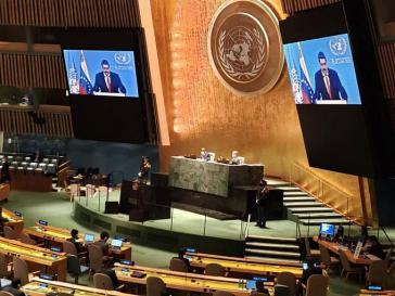 Venezuelas Präsident war aus Caracas zugeschaltet