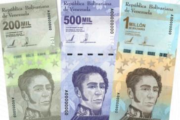 Die Entwertung der Landeswährung hat zu immer höheren Geldscheinen geführt