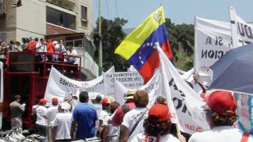 Kundgebung in Caracas gegen Zwangsräumung