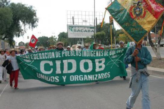 Demonstration der CIDOB Ende 2008