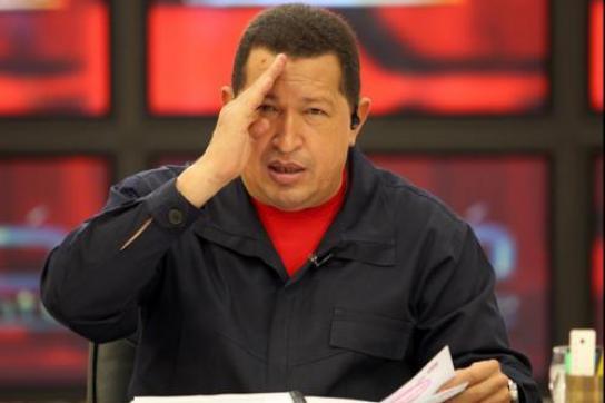 "Chávez während der Sendung ""Aló Presidente"""