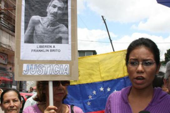 Politisiert: Protest für Landbesitzer Brito