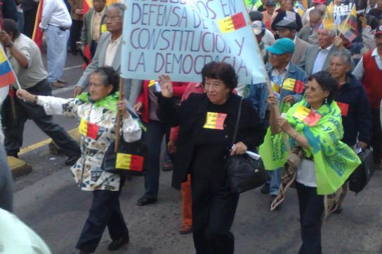 Protest am Samstag in Quito