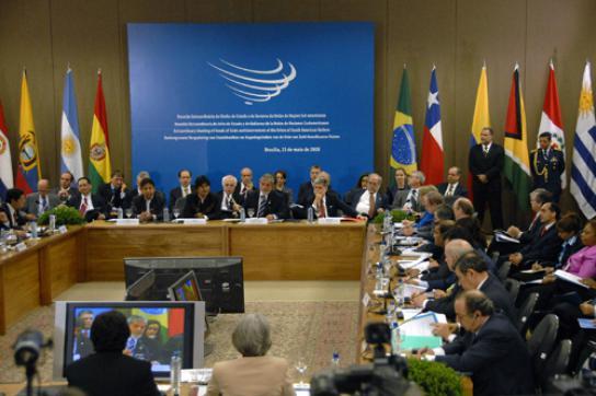 UNASUR-Sitzung Ende 2008 (Archivbild)