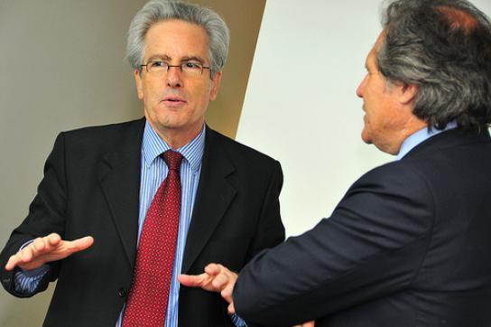 Auf Mission: US-Diplomat Valenzuela mit Uruguays Außenminister Luis Almagro
