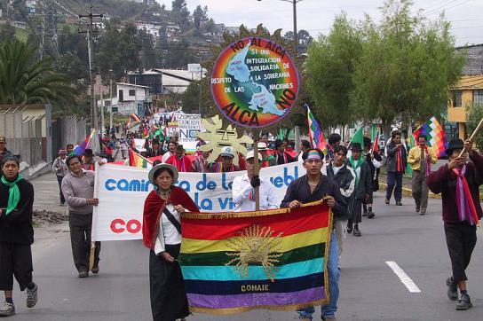 CONAIE-Aktivisten in Ecuador