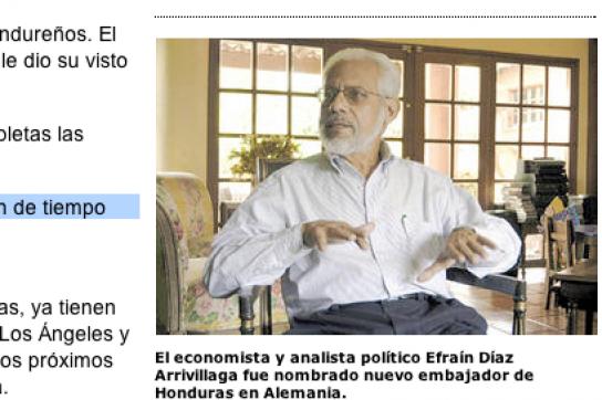 """Bericht von """"La Prensa"""": Díaz Arravillaga als Botschafter nach Berlin"""