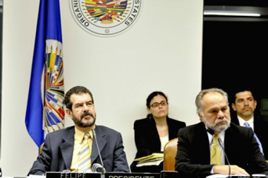 Sollen handeln: OAS-Vertreter beim Treffen mit der Widerstandsfront FNRP