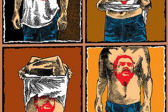 Ché Guevara auf dem T-Shirt und auf der Haut
