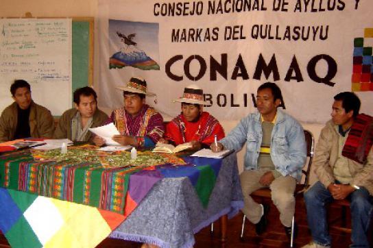 Präsidium der Organisation Conamaq