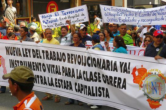"""Protest in Caracas: Gewerkschaften fordern """"mehr Revolution"""""""