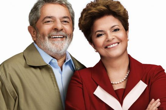 Lula und Dilma Rousseff