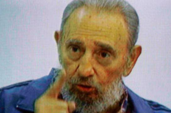Fidel Castro während des Fernseh-Interviews