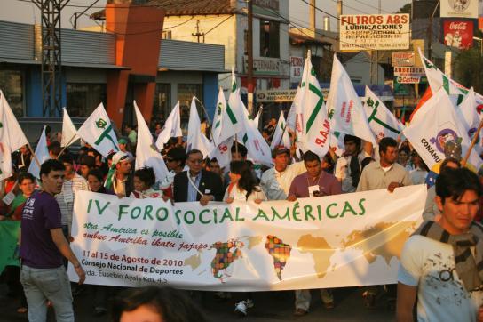 Aufbruchstimmung: Amerikanisches Sozialforum in Asunción