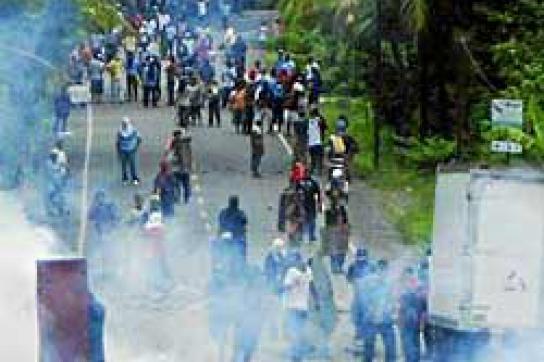 Panama Ende letzter Woche: Mit Tränengas gegen Demonstranten