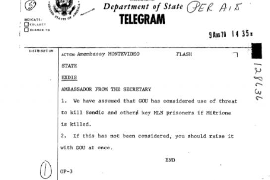 """Geiselmord """"jetzt ansprechen"""": Telegramm an die US-Botschaft in Montevideo"""