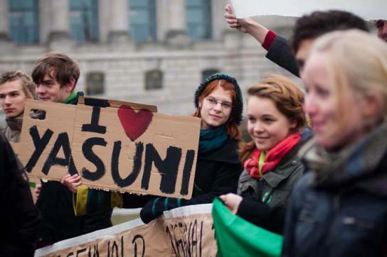Kundgebung für Yasuní-ITT
