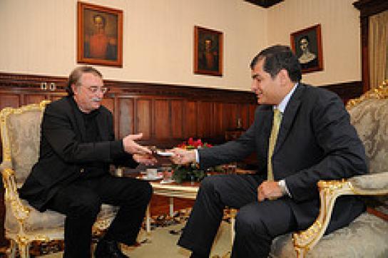 Ignacio Ramonet und Rafael Correa