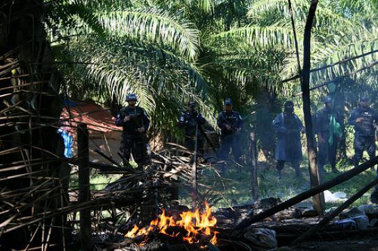 Räumung einer Bauernsiedlung in Region Bajo Aguán