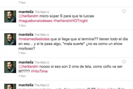 Debatte auf dem Twitter-Account von Antéliz