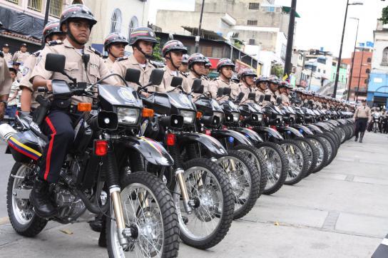 Einsatzkräfte der Bolivarischen Nationalpolizei (PNB)