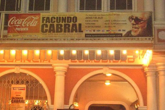 Ankündigung des letzten Konzertes in Quetzaltenango