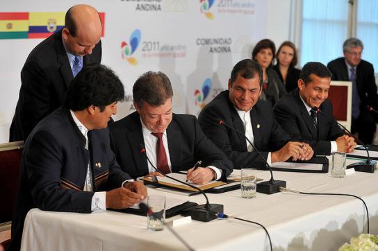 Präsidenten auf CAN-Gipfel am Dienstag in Bogotá