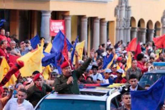 Chávez am Freitag in Caracas