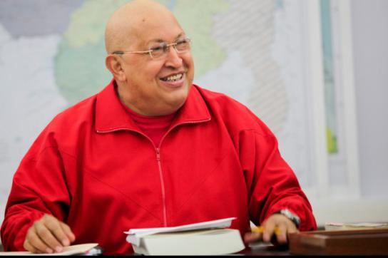 Hugo Chávez am Samstag bei einer öffentlichen Kabinettssitzung