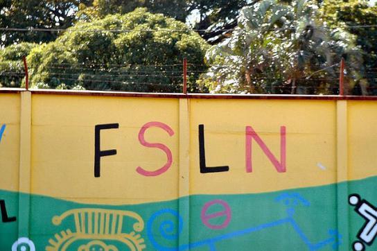 Werbung für die regierende FSLN