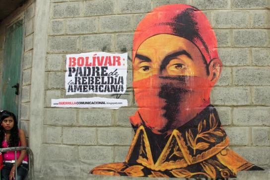 Wandgemälde von Simón Bolívar