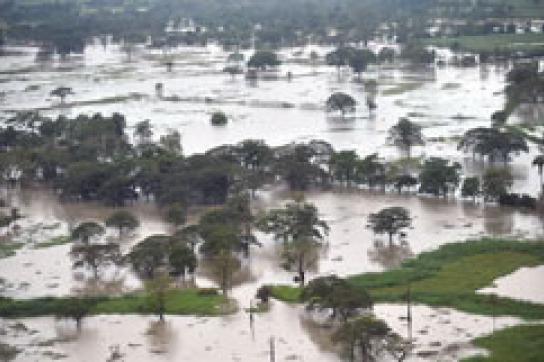 Überfluteter Landstrich in Guatemala
