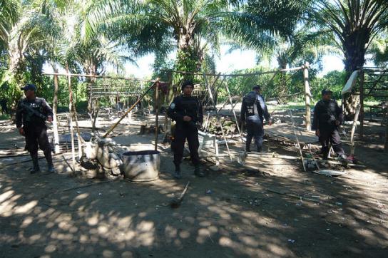 Soldaten in Bajo Aguán