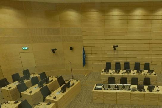 Blick in den Sitzungssaal des IStGH