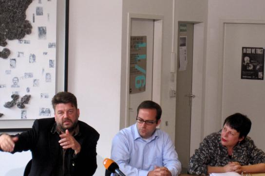 Wolfgang Kaleck, Andreas Schueller (ECCHR), Petra Schlagenhauf