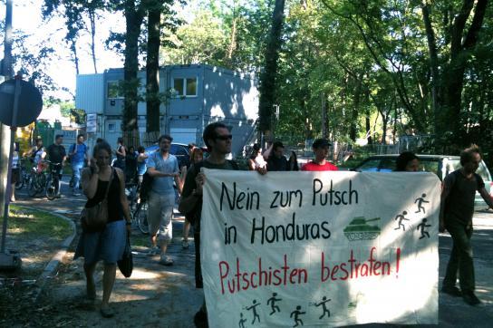 Kundgebung in Potsdam