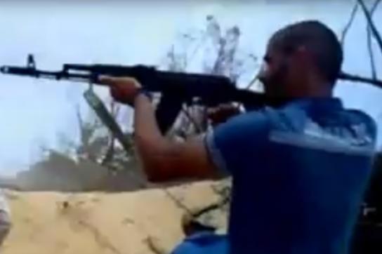 Szene aus den Kämpfen in Libyen