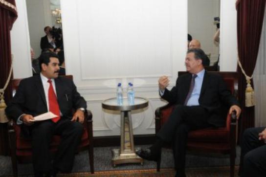 Nicolás Maduro und Leonel Fernández in New York