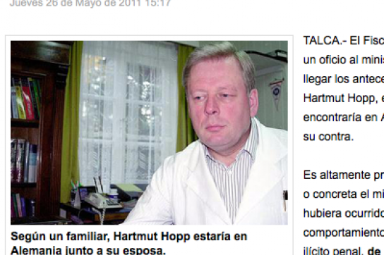 Auszug aus der chilenischen Tageszeitung El Mercurio