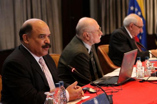 Planungsminister Giordani und Zentralbankchef Merentes