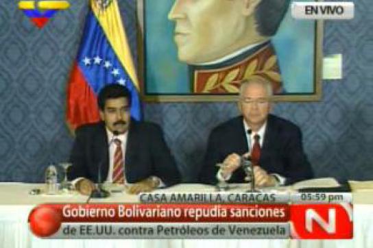 Außenminister Nicolás Maduro und Energieminister Rafael Ramírez