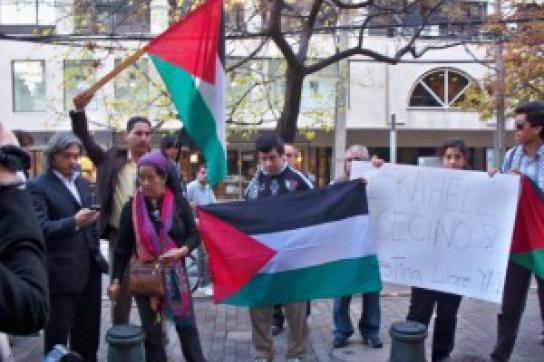 Demonstranten der palästinensischen Gemeinde in Chile