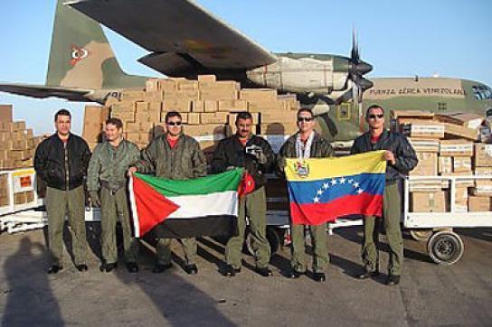 Hilfsgüter aus Venezuela für Palästina