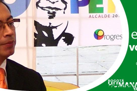 Wahlwerbung von Gustavo Petro