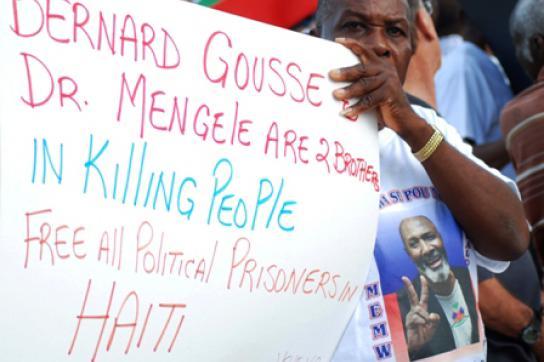 Protest gegen Gousse in den USA