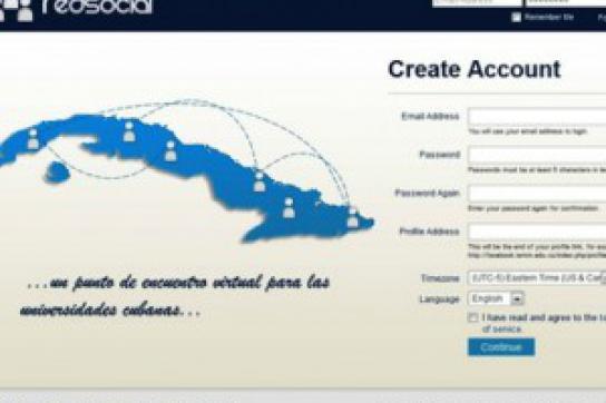 """Startseite des """"kubanischen Facebook"""""""