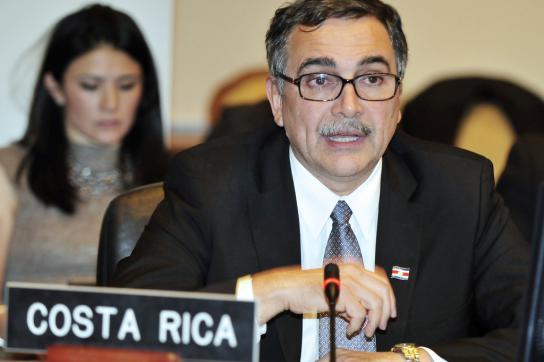 René Castro, Außenminister Costa Ricas